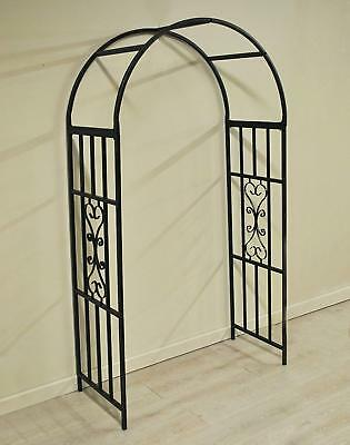 Metal Garden Arch Arbour for Roses Kensington with Ground Spikes