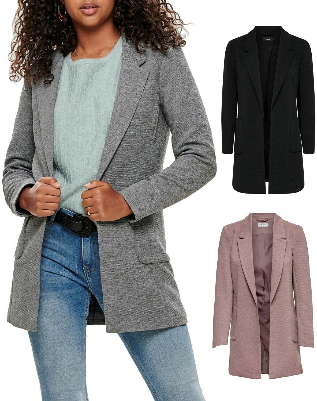 Only Damen Jacke Kurz-Mantel onlLinda L/S Baker Blazer schwarz grau rosa XS - XL
