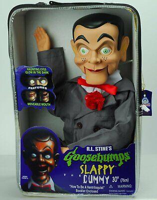 "Slappy Dummy Ventriloquist Doll Famous ""Star of Goosebumps"" Glow In Dark Eye NEW - Goosebumps Slappy Ventriloquist Dummy"