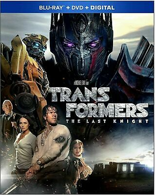 TRANSFORMERS The Last Knight Blu-ray + DVD + Digital *Brand New w/ Slipcover*