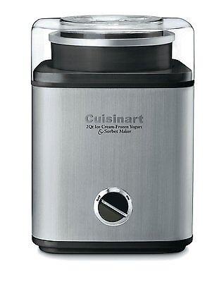 Cuisinart Cim 60Pc Stainless 2 Qt Automatic Frozen Yogurt Sorbet Ice Cream Maker