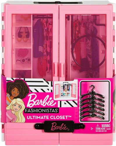 ​Barbie Fashionistas Ultimate Closet Portable Fashion Playset Toy GBK11  NEW