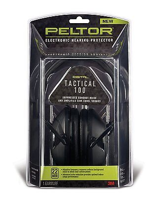 Peltor Tactical 100 Earmuffs Electronic 22db  Hearing Protec