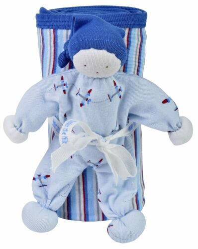 Under The Nile Organic Egyptian Cotton Stroller Blanket and Toy Gift Set - AIRPL