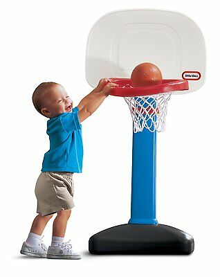 Little Tikes EasyScore Adjustable Kids Basketball Hoop Sturdy Base Toddler Game](Toddler Basketball Hoop)