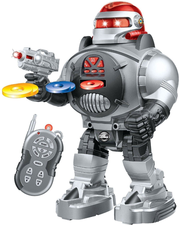 RADIO REMOTE CONTROL RC ROBOT TALKING SHOOTER ROBOT FIRES DISCS DANCES