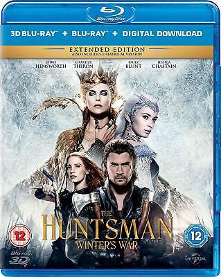 The Huntsman: Winter's War (3D + 2D Blu-ray, 2 Discs, Disney, Region Free) *NEW*