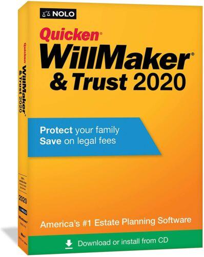 Quicken Willmaker Trust 2020 Software New Sealed Estate Planning Mac Windows