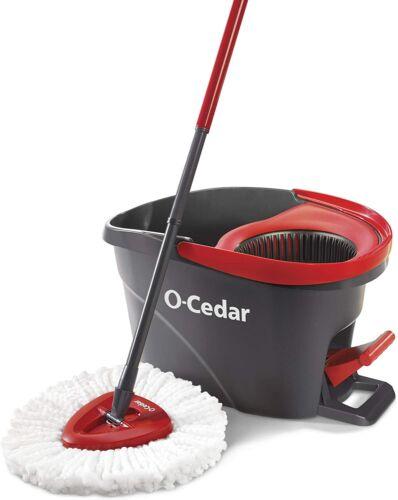 O-Cedar EasyWring Microfiber Spin Mop Bucket Floor Cleaning Shiny Floor System
