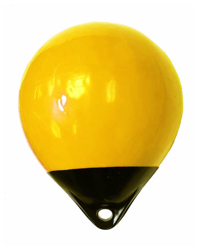 """KUFA A38 Yellow/black 15"""" Diameter (Inflated Size: 15"""" x 20"""") Mark Buoy A38Y"""