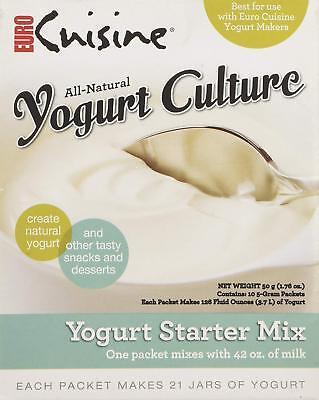Euro Cuisine All Natural Yogurt Culture Starter Mix - Contains 10 5 Grams Packs (Eurocuisine Yogurt)