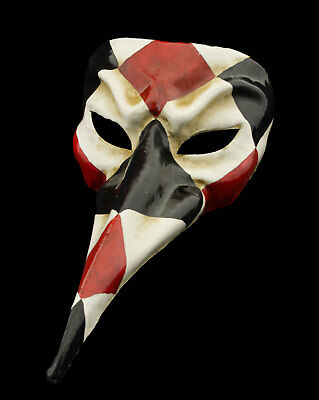 Mask from Venice Nasone Long Nose Paper Mache Black Red High Range 22338 VG20