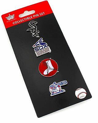 Chicago White Sox Logo MLB Baseball Evolution 4 Piece Lapel Pin Set ()