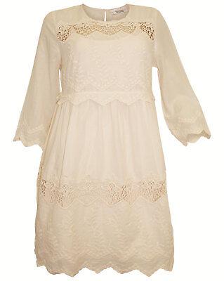 Romantik Kleid LINEA TESINI rosa Minikleid m. Spitze + Unterkleid neu ()