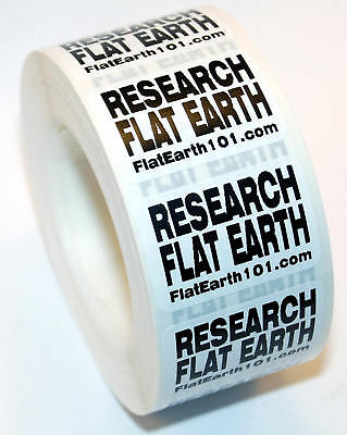 Research Flat Earth Stickers - White Decals - FE Activism - Help Spread The Word