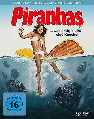 Piranhas [Blu-ray] [Limited Collector's Edition] DVD Box Set Edition + Bonus NEU