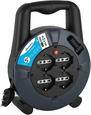 Extensión Eléctrica Carretes de Cable 5M M 3X1, 5 4 Toma Salida...