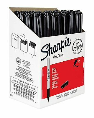 Sharpie Permanent Markers 1884739 Fine Point Black Ink 36 Counts