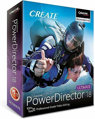 CyberLink PowerDirector 18 Ultimate Editing Software Lifetime Key Fast Delivery!