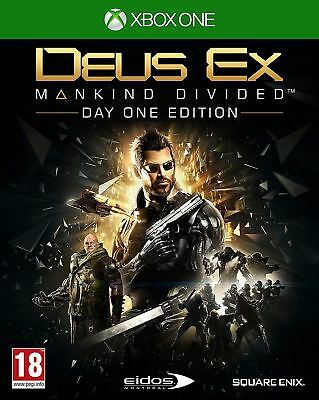 Deus Ex Mankind Divided Day One Edition Xbox One Brand New Sealed Video Game