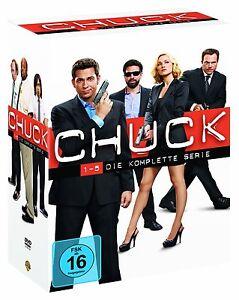 CHUCK 1-5 DIE KOMPLETTE SERIE DVD STAFFEL 1 2 3 4 5  KOMPLETTBOX DEUTSCH