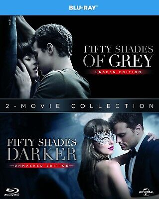 50 Fifty Shades Of Grey And Fifty Shades Darker Two Movie Blu Ray Set Brand New