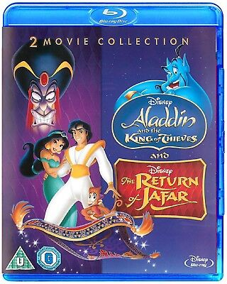 Aladdin and the King of Thieves + Return of Jafar Disney Blu-Ray 2 Movie Set NEW](Homecoming King)