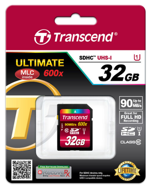 TRANSCEND 32 GB SDHC MEMORY CARD SD HC UHS-I 32GB CARD - RETAIL - TS32GSDHC10U1