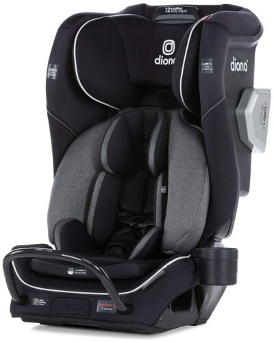 Diono Radian 3QXT All-In-One Booster Child Safety Car Seat Black Jet NEW