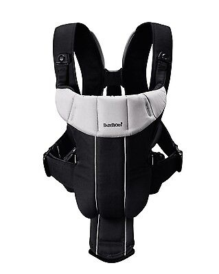 BabyBjorn Baby Carrier ACTIVE Black/Silver 0+ Months 8-26lbs