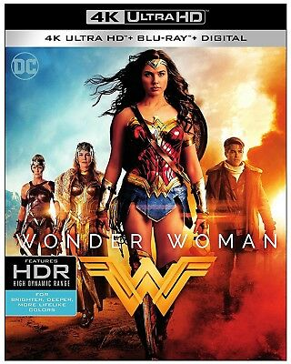 Wonder Woman (4K Ultra HD Blu-ray, 2017, Includes Digital Copy) NEW