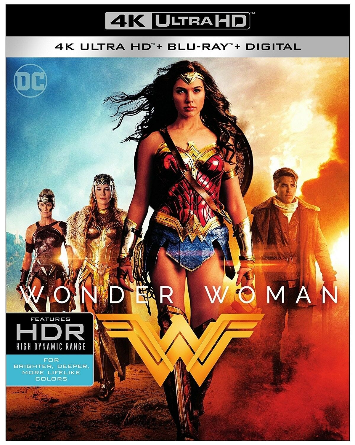 Wonder Woman (4k Ultra Hd Blu-Ray, 2017, Includes Digital Copy) New