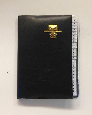 "Kamset Address Telephone Book Small 3.25"" x 4"" Black"