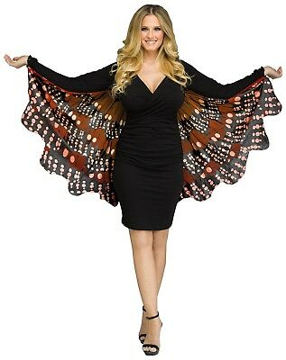 Butterfly Wings Soft Fabric Adult Costume Accessory, Monarch Gold - Gold Wings Costume