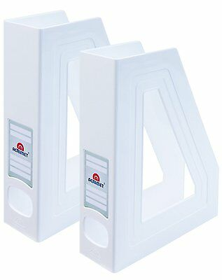 Acrimet Magazine File Holder White Color 2 - Pack
