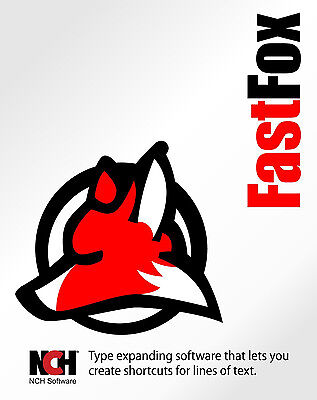 Fastfox Text Expander NCH software , Type faster