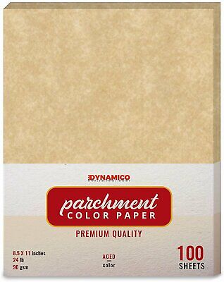 Aged Stationery Parchment Colored Regular Paper - 8.5 X 11 - 100 Sheets
