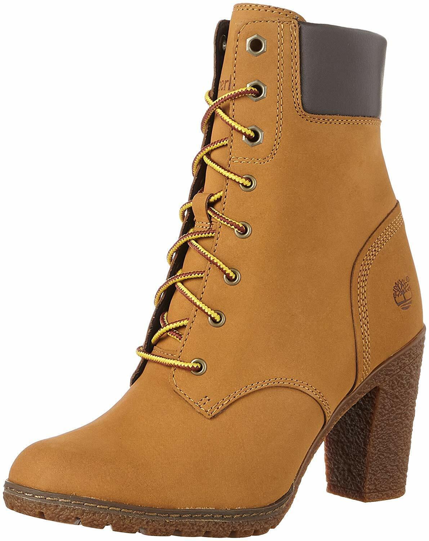 "Women's Timberland GLANCY 6"" Boots, Wheat Nubuck TB08715A 231 Multiple Sizes"