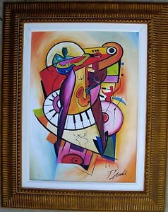 ALFRED (ALEX) GOCKEL, Original Giclee on Canvas, Razzamatzz, Signed/Framed