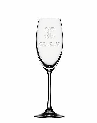 Champagne Flute, Monogram Champagne Glass, Personalized Toasting Flute -