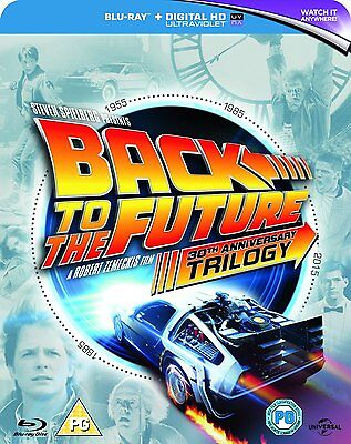 Back to the Future Trilogy 30th Anniversary 1 2 3 Blu-Ray Set USED Free Ship