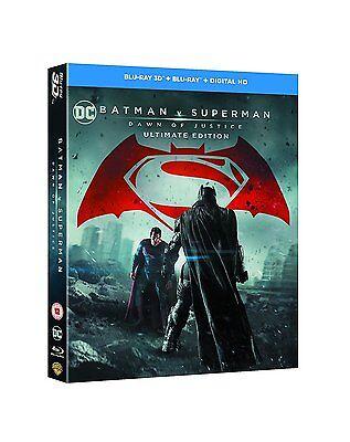 Batman V Superman   Dawn Of Justice  3D   2D Blu Ray  2 Discs  Region Free  New