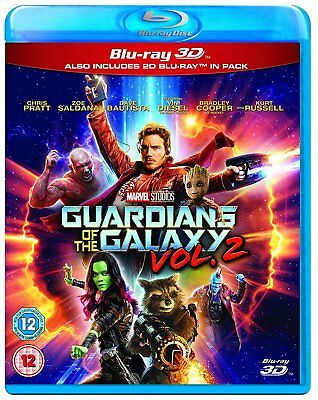 Guardians Of The Galaxy Volume 2 3D Blu Ray 3D   2D Brand New Free Ship