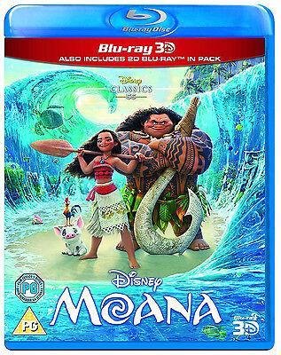 Moana  Blu Ray 3D   Blu Ray   2016  Disney Animated Movie Combo Pack Maui