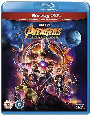 Avengers INFINITY WAR (2018) 3D + 2D Blu-Ray BRAND NEW Free Ship
