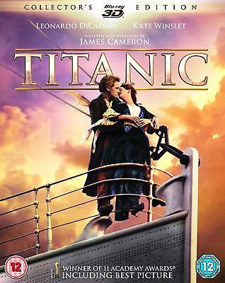TITANIC 3D + 2D Blu-Ray 4 Disc Set BRAND NEW Free Ship