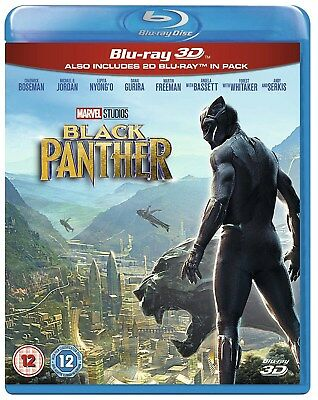 Disney Marvel Black Panther Blu Ray  3D And 2D