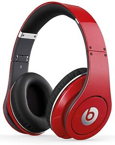 Original Monster Studio Beats by Dr Dre Red Headphones