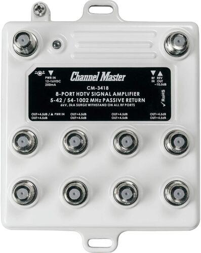 Channel Master CM-3418 8-Port HDTV Signal Distribution Amplifier New