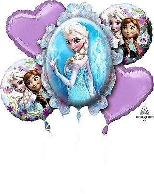 Anagram Disney FROZEN Foil Balloon Bouquet 5 Balloons 2-Sided SuperShape (Frozen Foil Balloons)